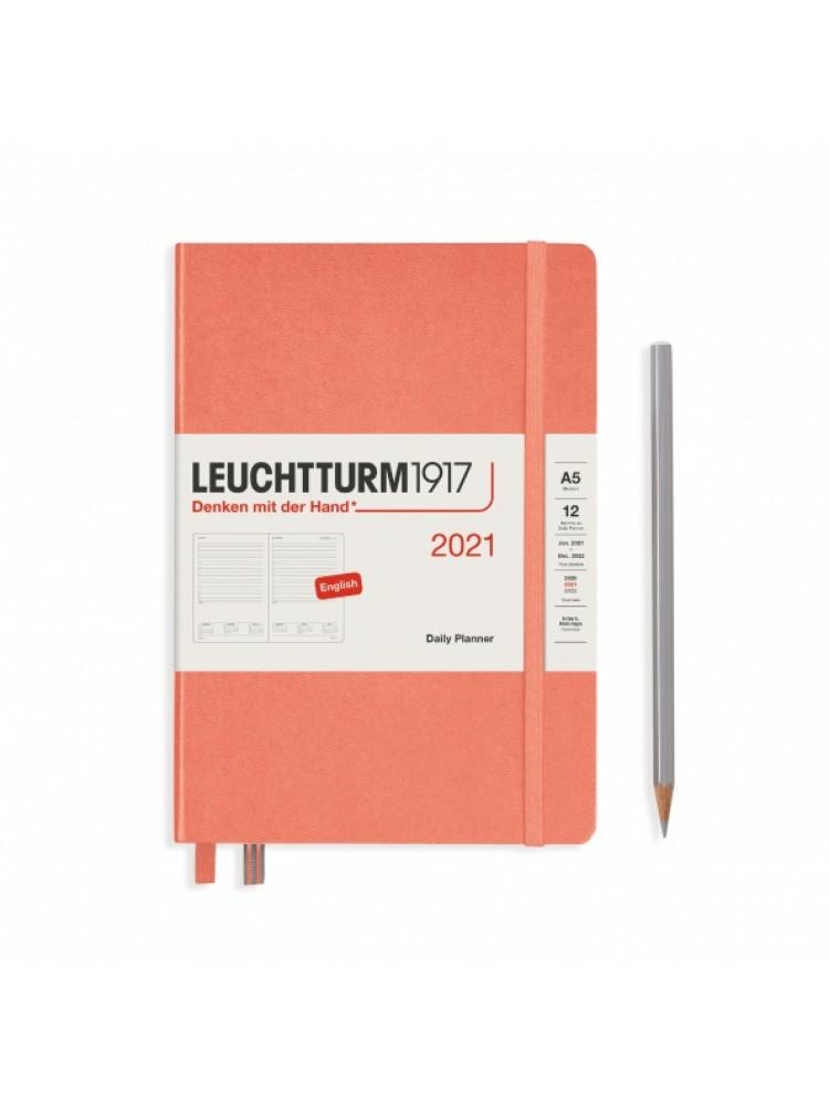 Dieninė darbo knyga A5. 2021. Persikas. Leuchtturm1917