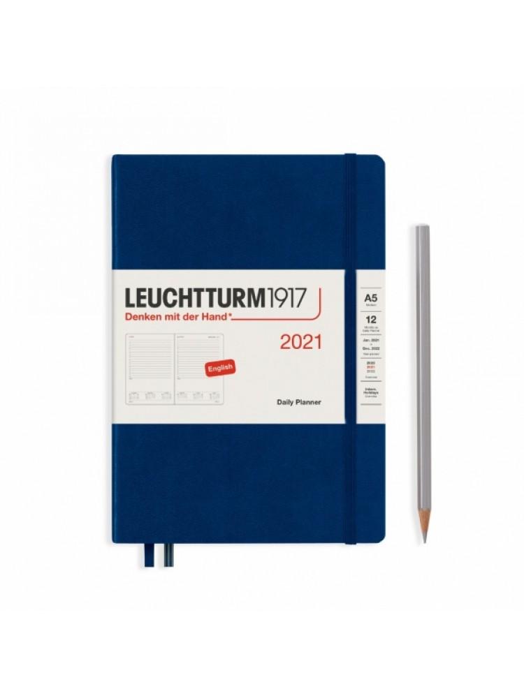 Dieninė darbo knyga A5. 2021. Tamsiai mėlyna. Leuchtturm1917