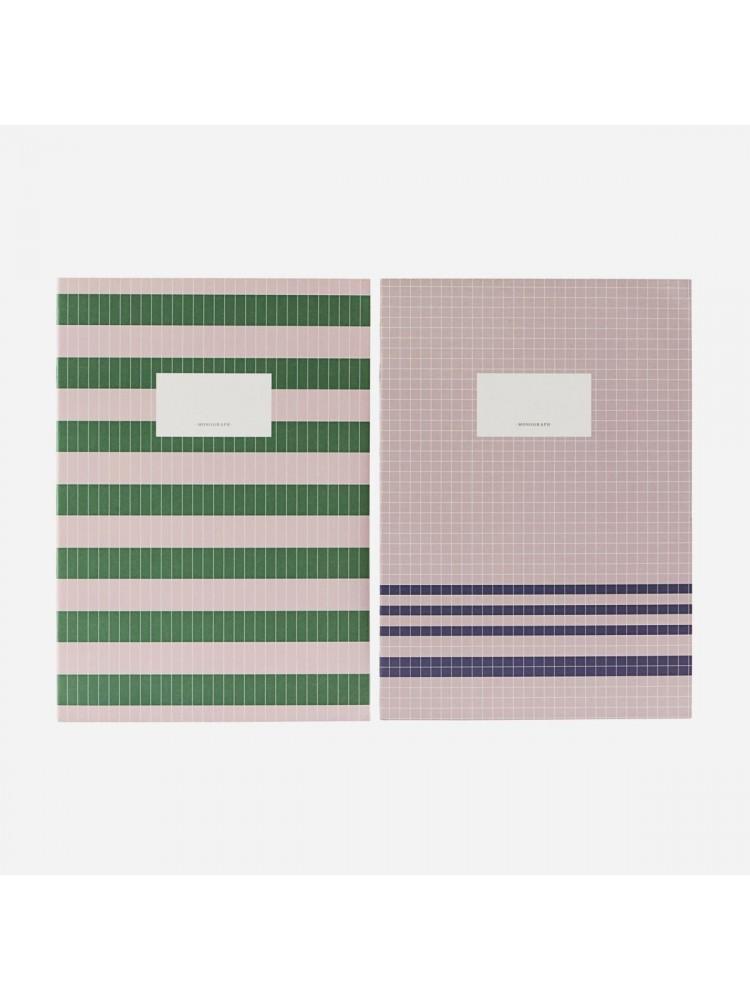 Užrašų sąsiuvinis (kūno / žalia), A4. Monograph