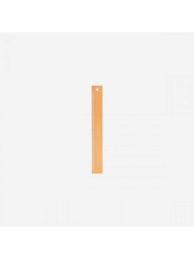 Liniuotė, 20 cm (oranžinė). Monograph