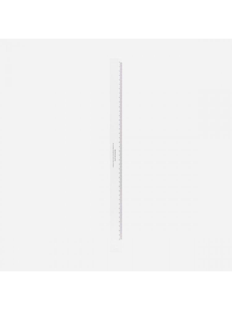 Liniuotė, 40 cm (balta). Monograph
