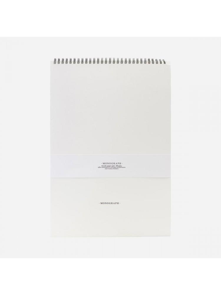 Popieriaus bloknotas piešimui su akrilu (baltas). Monograph