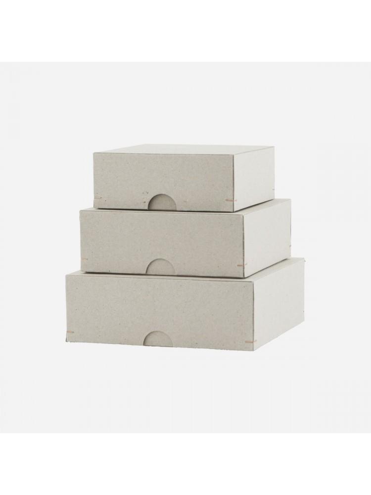 Kartoninės dėžės (pilka). Monograph