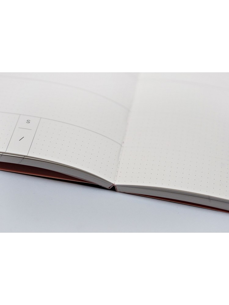 Savaitinė darbo knyga A5 be datų. Terrazzo formos. The Completist