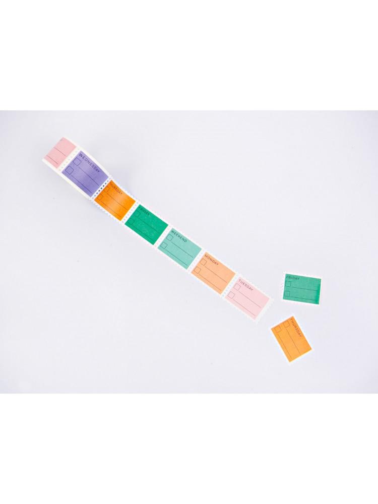 Lipni juosta atskirais stačiakampiais Pastelės kiekvienai dienai. The completist
